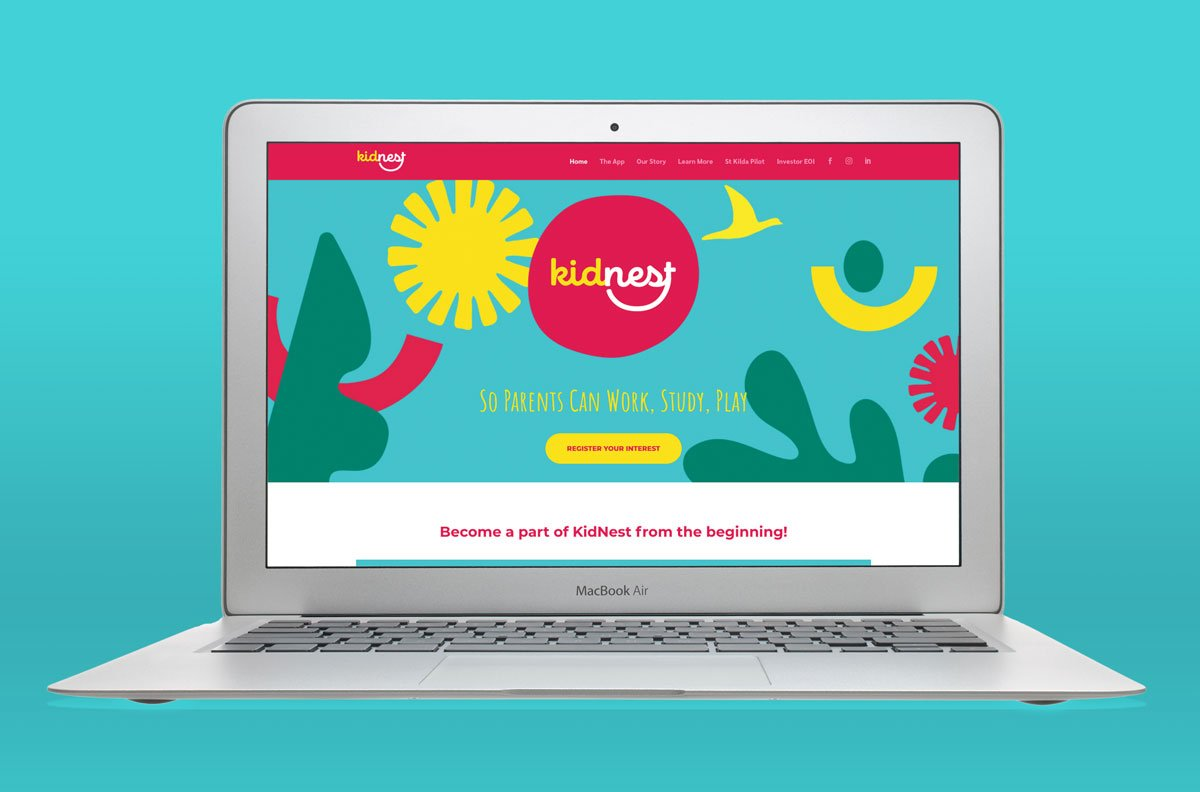 kidnest website design