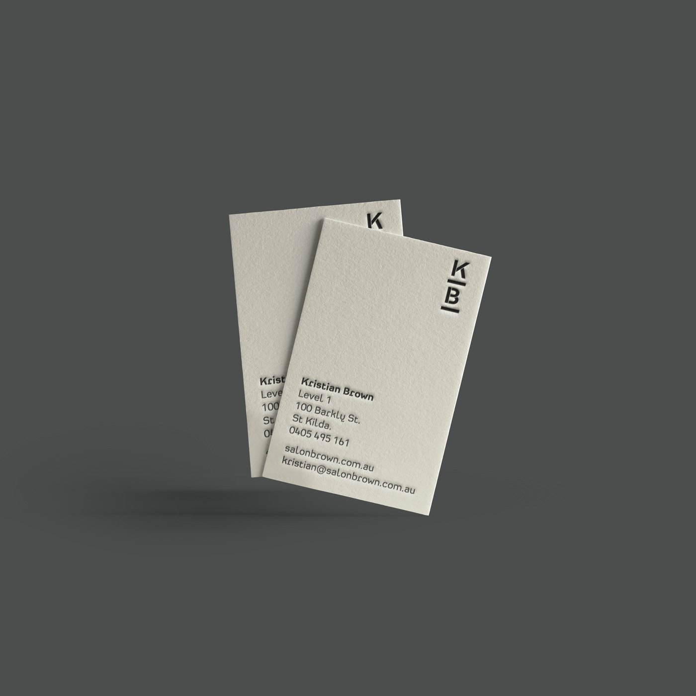 Kristian Brown businesscard design
