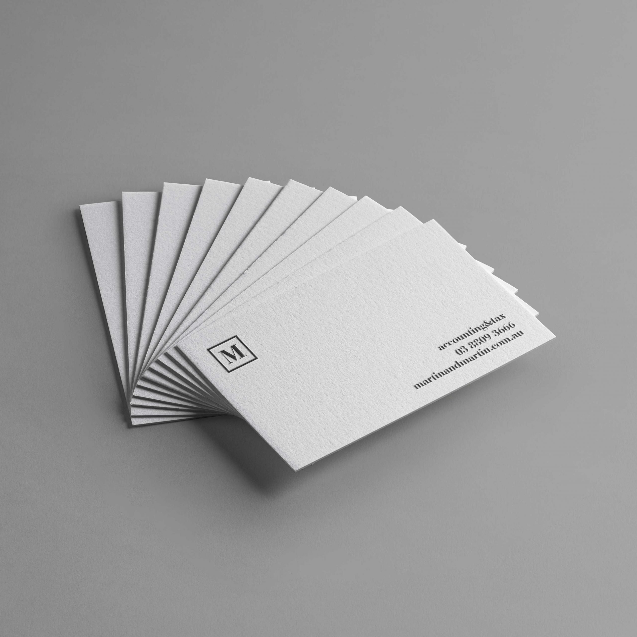martin and Martin businescard design