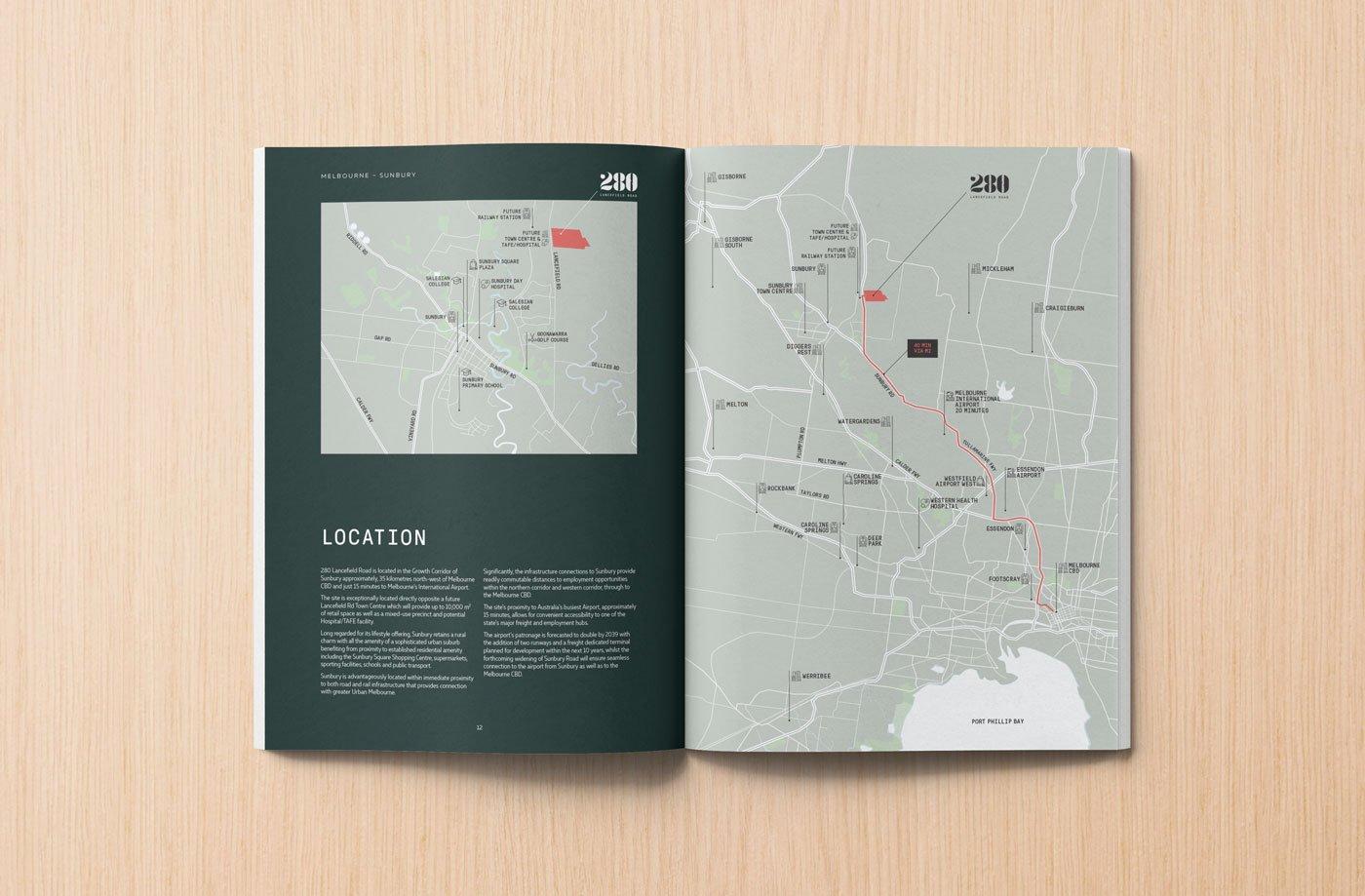 Sunbury brochure layout design
